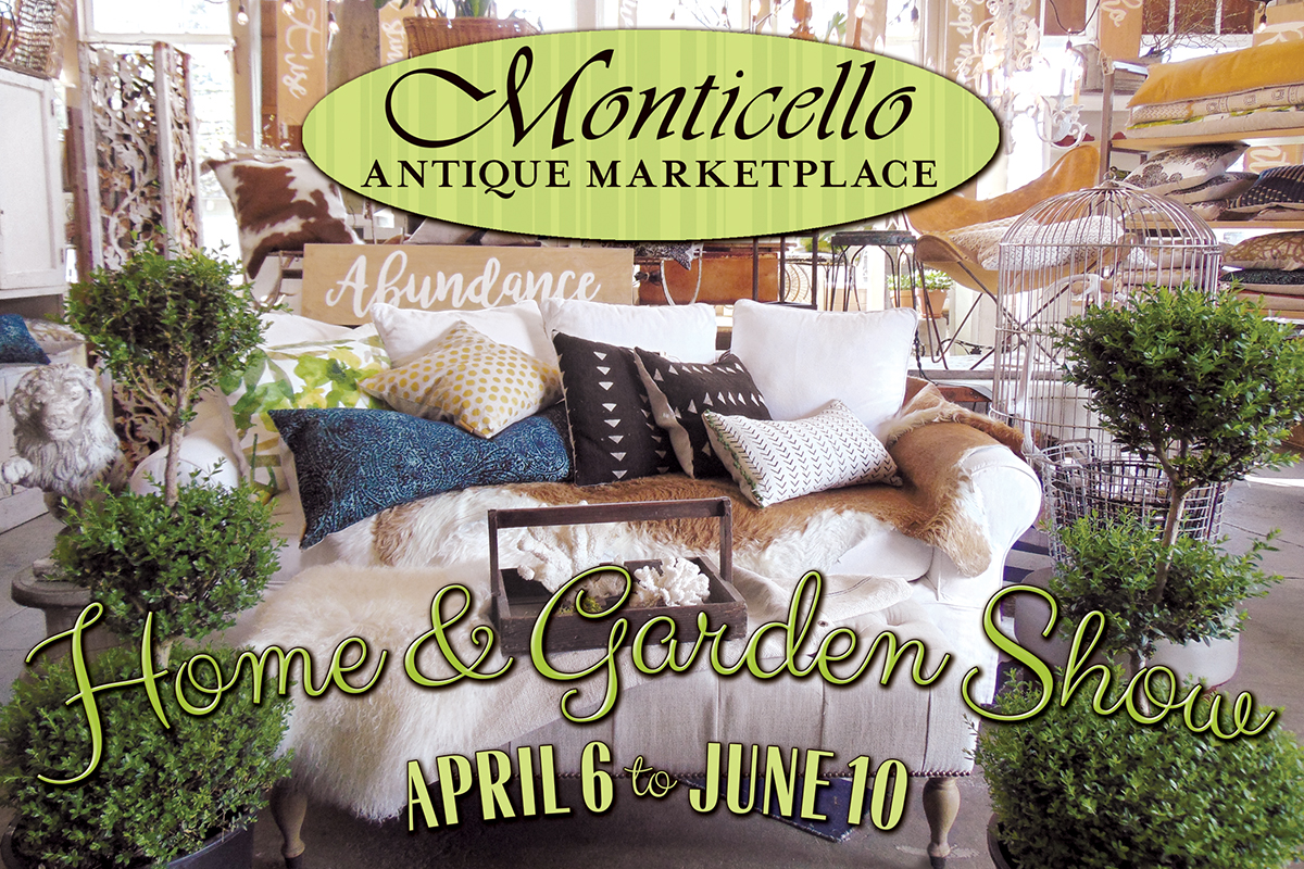 Antique furniture portland monticello antique marketplace for Portland spring home and garden show